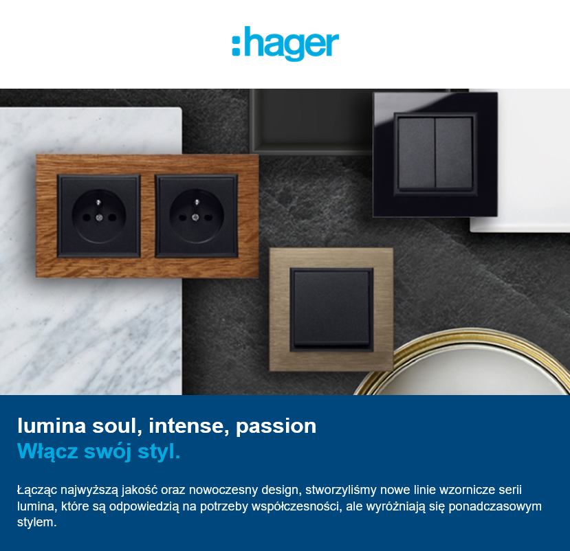 nowy osprzet hager lumina soul intense passion